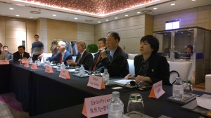 open dialogue meeting with Amb. Baucus, US and Chinese colleagues in Beijing in early 2016.