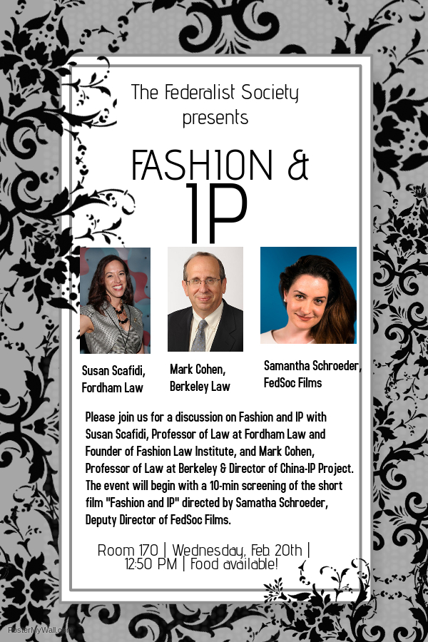 Fashion and IP Poster - Feb. 20th (1)